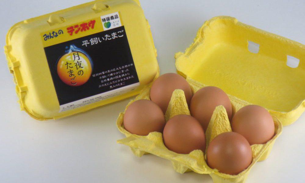 """""""黄身が箸でもてる!目玉焼きにしたときの立体感がちがう!!"""" 長野県内で、餌にこだわって育てた鶏のたまご【月夜のたまご】好評販売中!"""